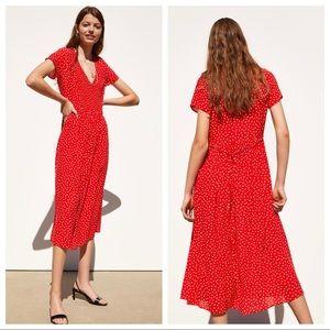 🆕 NWT Zara Polka Dot Midi Dress